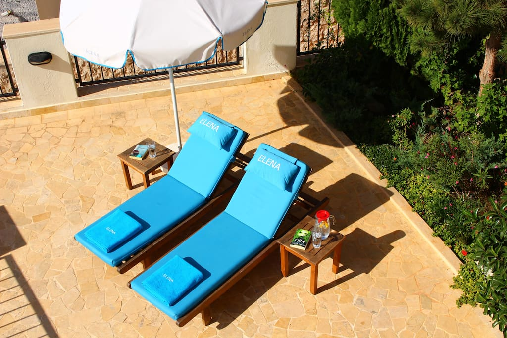 Sit back and relax on the private terrace at Elena