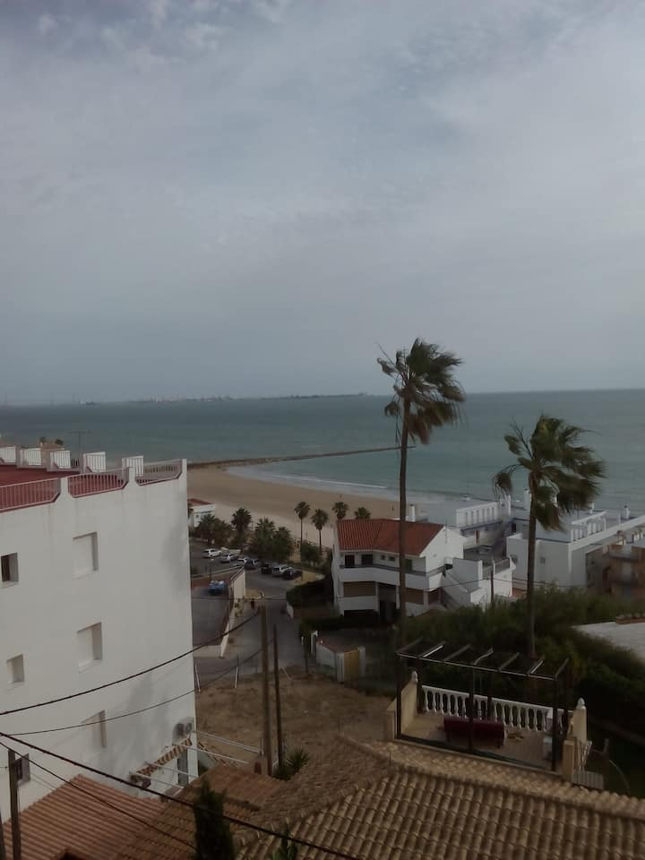 Holiday Apartment 'Casa de la Ciruela' close to the Beach with Sea View & Terrace; Pets Allowed upon Request