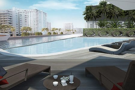 Studio unit at Beachwalk Resort - Hallandale Beach