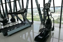 Gym facilities at rooftop floor