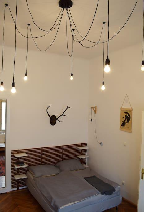 living room, diy lamp