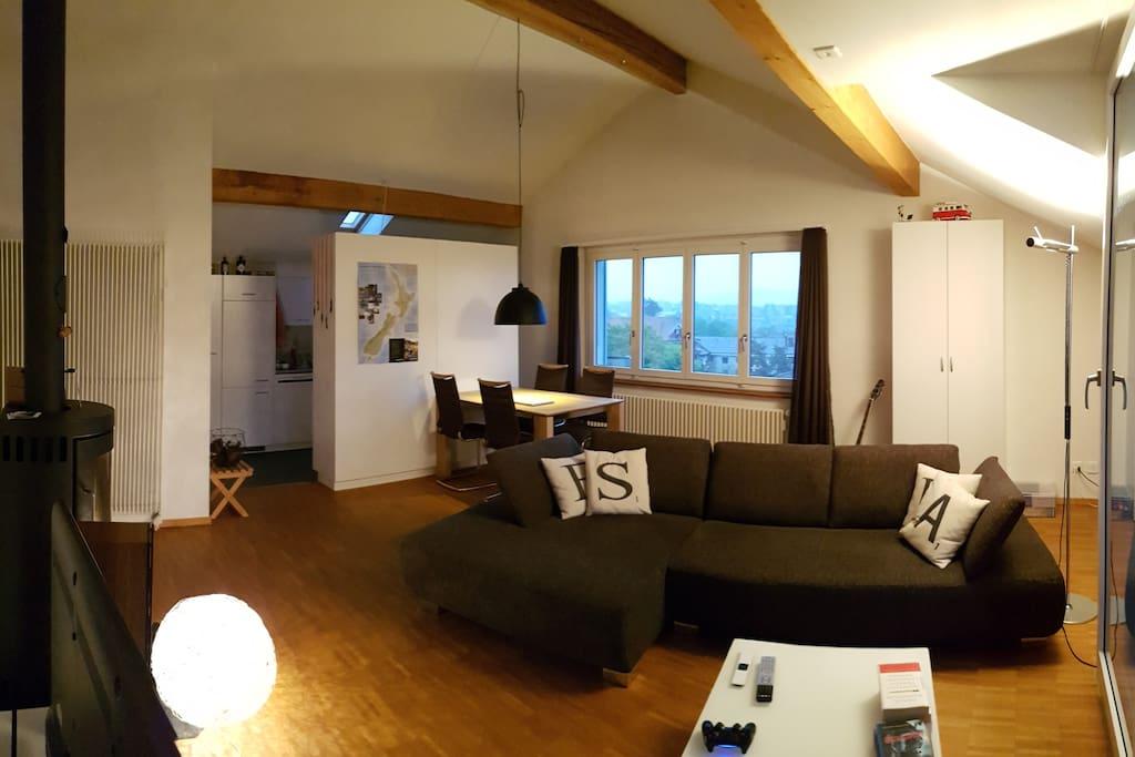 Esszimmer mit Wohnzimmer kombiniert