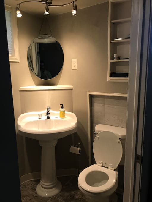 basement shared bathroom