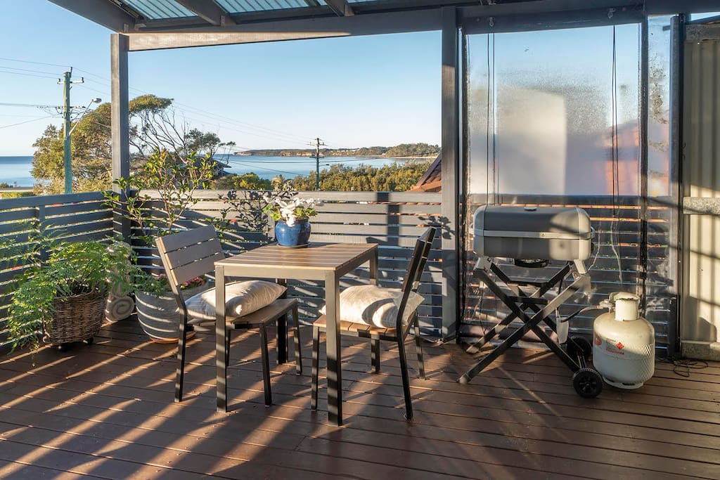 Sit on the deck and enjoy the ocean view