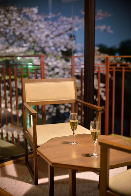 Room balcony with SAKURA view