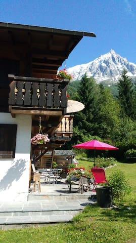 Appartement calme, vue Aiguilles de Chamonix