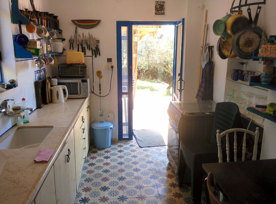 Kitchen and backdoor