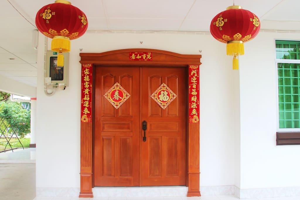 Main door. Wow!