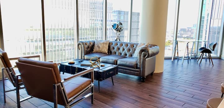 Legacy West Luxury SkyView Loft + Free Rental Car