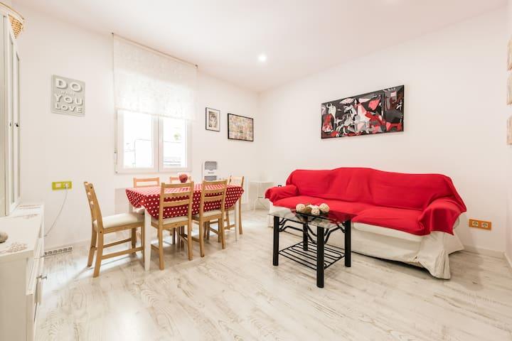 6Pax-3Double Room Nice and cozy apartment (WiFi) - Madrid