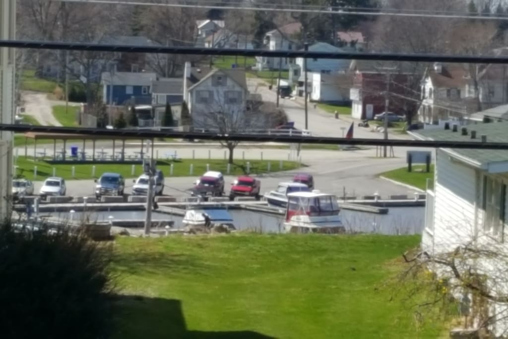 View of Olcott Marina from 2nd floor deck