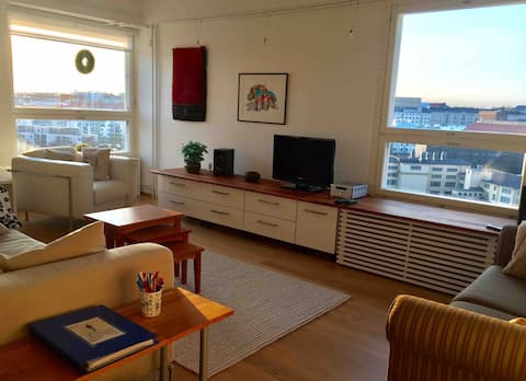 Great location, views over Kallio, balcony