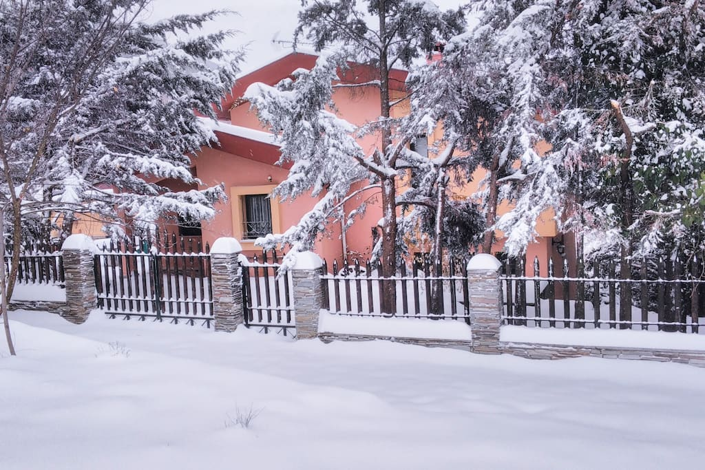 Snowy Winter - house front view