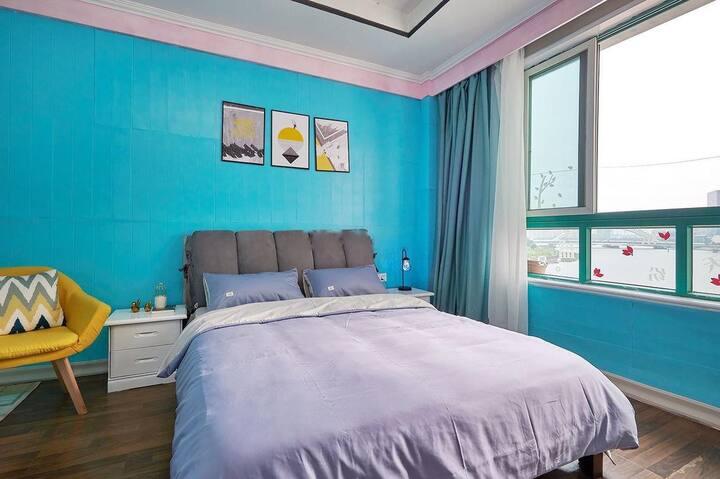 伊间丨南塘老街丨城隍庙丨老外滩丨仙波里丨蓝色大床房