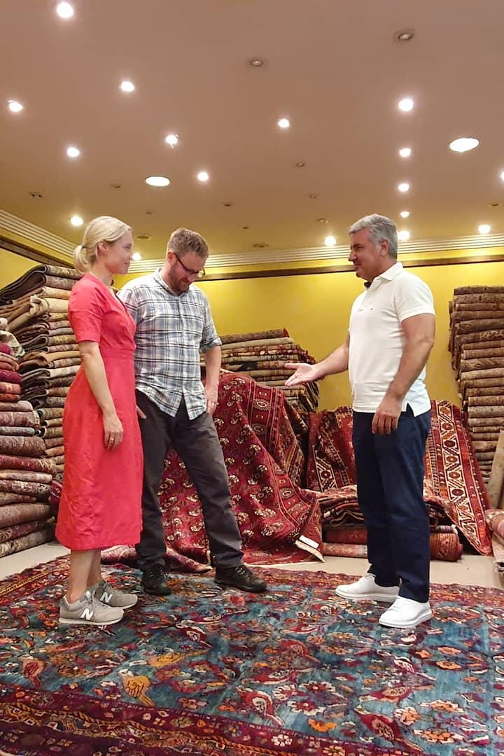 Carpet shopping tour w Ali YALNIZ