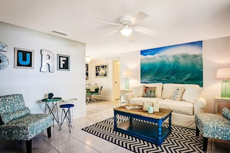 Surf Cottage; Private patio just steps to the gulf