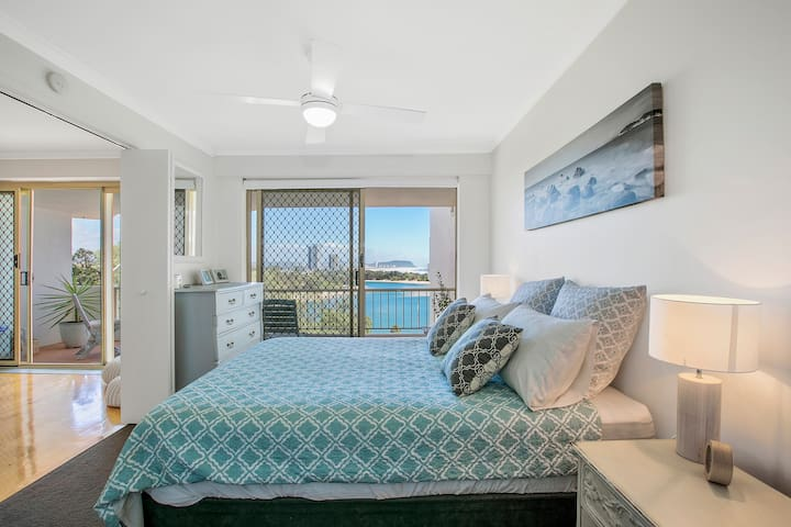 Fresh beach views from the master bedroom