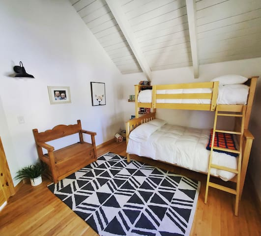 Bunk Room- top bed is twin, bottom bed is double, additional twin trundle under the bed