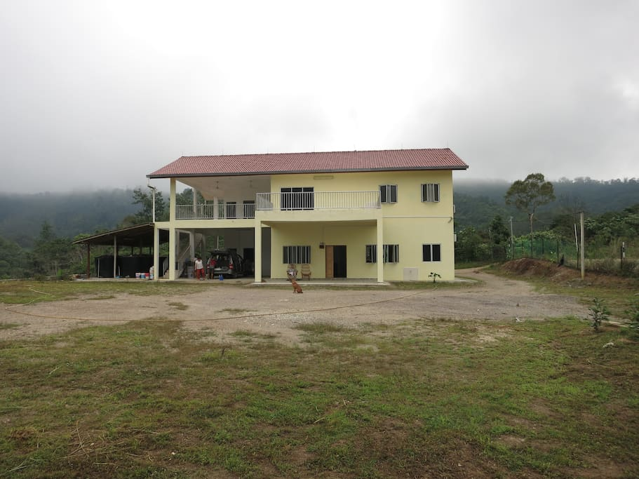 Another view of the farmhouse in the early morning