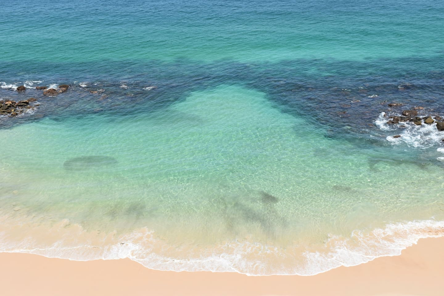 Crystal water, great for snorkeling!