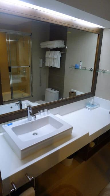 Clean modern bathroom with hot water and bidet