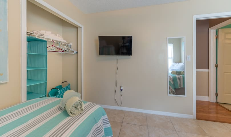 "Room #2 - 40"" Roku TV with Netflix, Prime TV and all other smart Apps for your choosing."