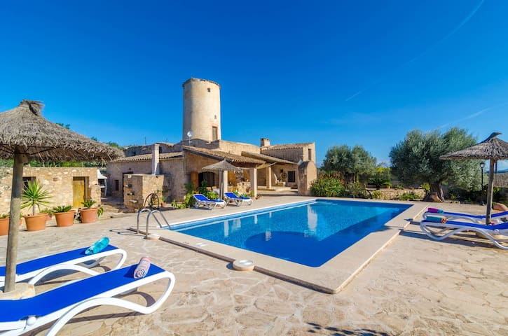 Moli den Nico - typical villa with pool - Porreras - Casa