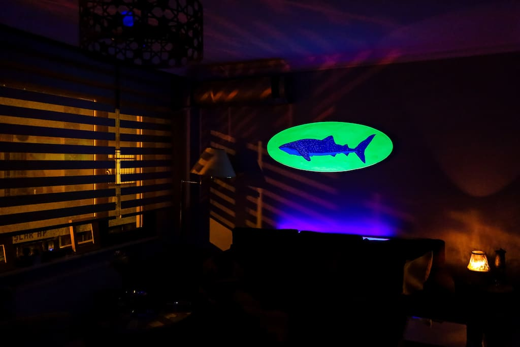 Living Room Under Blacklight