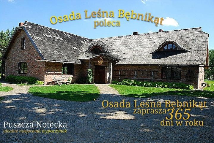 Osada Leśna Bębnikąt Puszcza Notecka 40km - Poznań