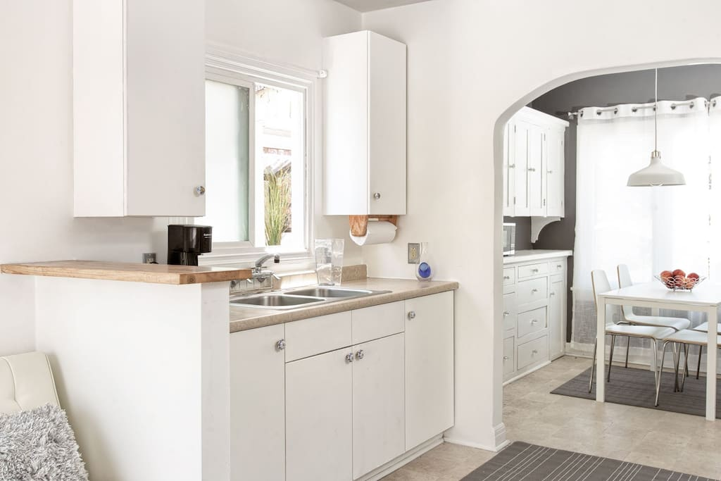 open kitchen space with everything you need