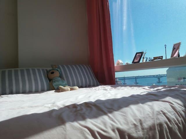 New setting, 버스STOP1분,신축고층,해변3분,Best cozy,광안대교오션뷰☺ - Suyeong-gu - Appartement