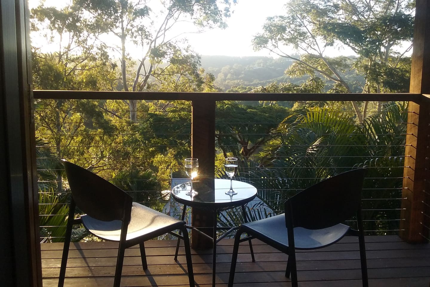 Drink in the beautiful valley views and sunsets from your own private balcony