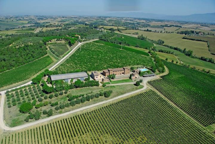 Rural Tuscany | Farmhouse Terrarossa | 26 persons