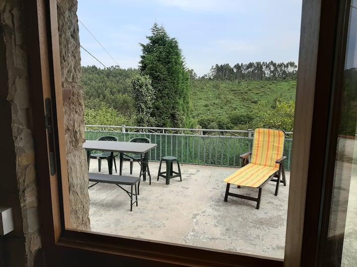 Casa con vistas a 2 km de la playa en Asturias