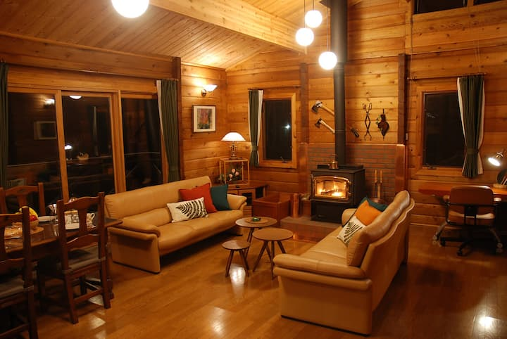 Prime Cottages LOG CABIN 2LDK fireplace Free WiFi
