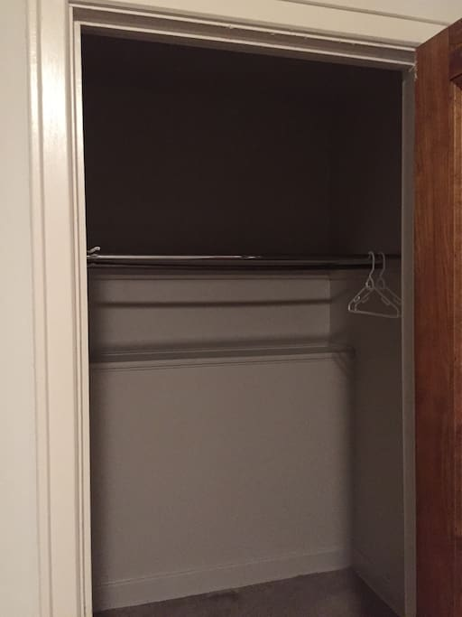 Walk in closet in the bedroom