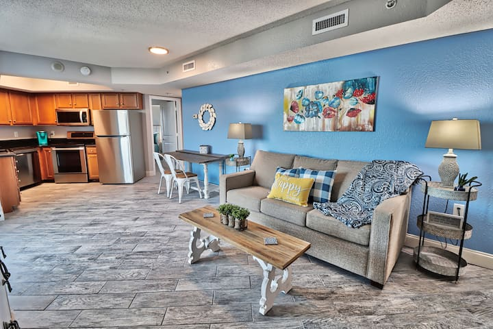 This condo has all new brand new furniture including, this sleeper sofa.
