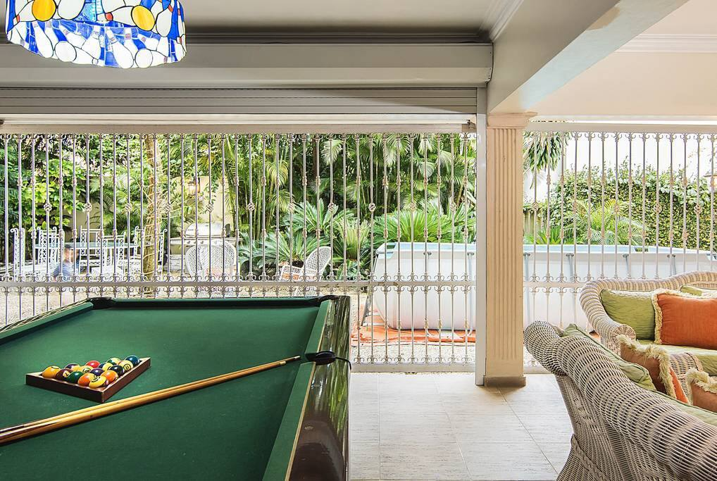 Beautiful Living Area with Pool Table.