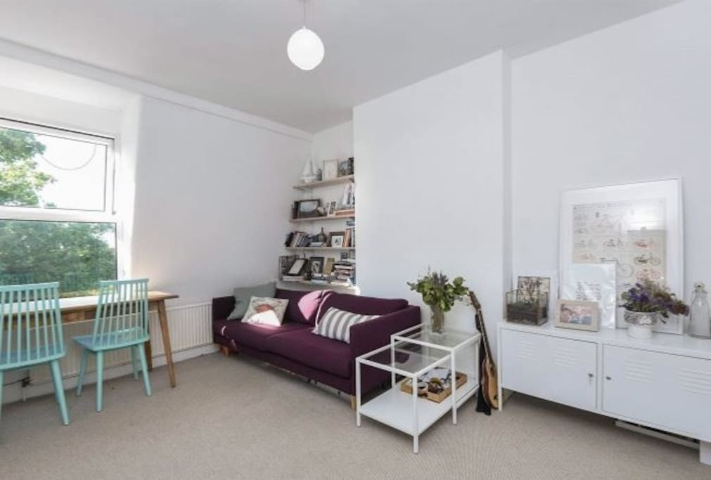 Our Awesome Bright Living Room. Ideally for relaxing, watching TV or working from a laptop