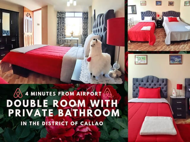 PRIVATE DOUBLE ROOM IN CALLAO (4' FROM AIRPORT)