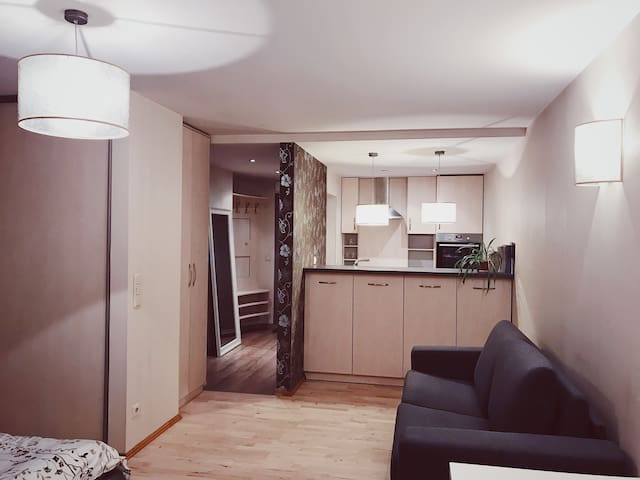 Brivibas studio for 4 guests with free parking