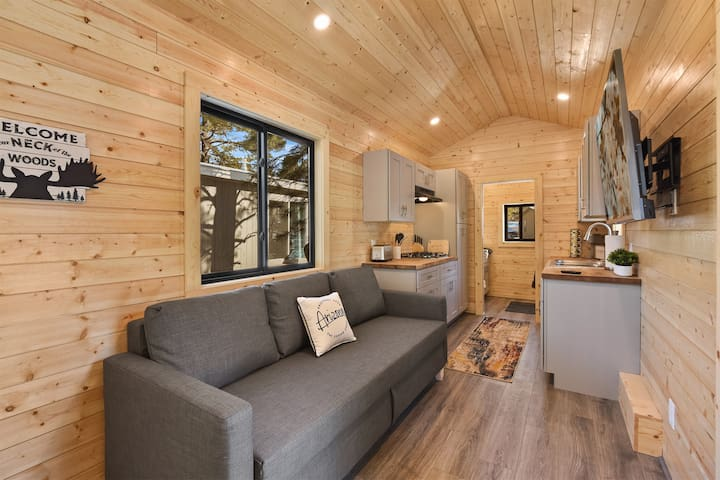 New Listing! Tiny Home - Big Fun! Wooded lot, Central Location, Stylish Decor!