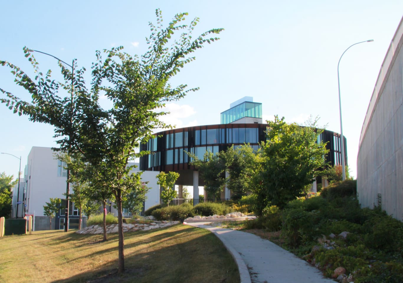 View of 62M Condo Building from Waterfront Drive