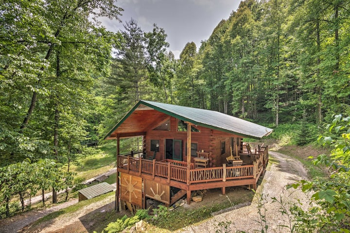 Bryson City Studio w/Hot Tub Near Fishing!