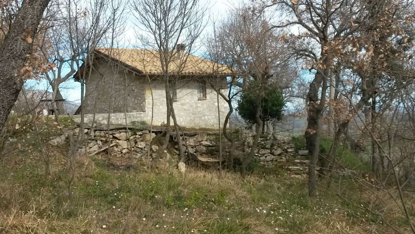 stone house into the bush - Corvara