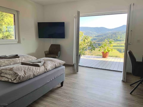 """Room """"Wendelsberg"""" with a fantastic view"""
