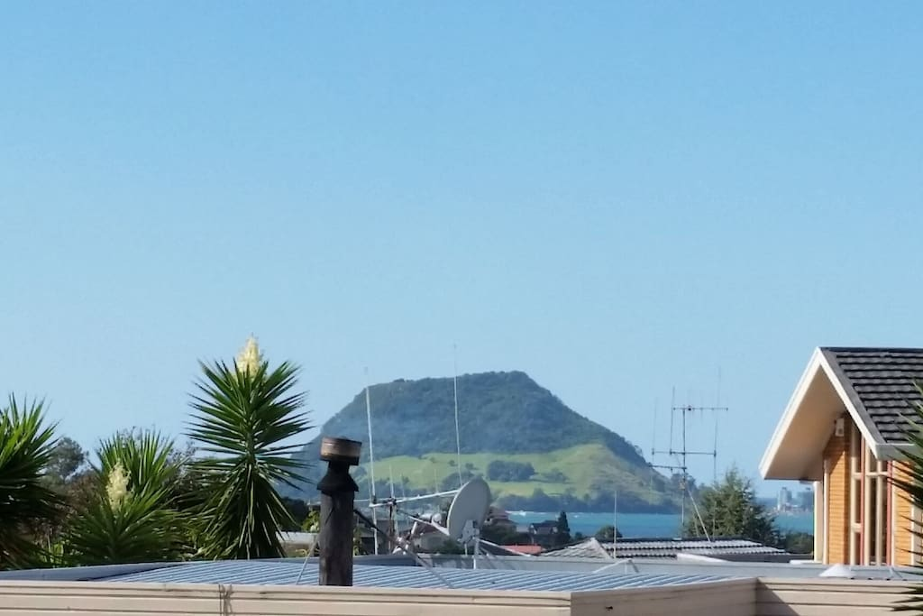 Waking up to this view of Mt Maunganui.