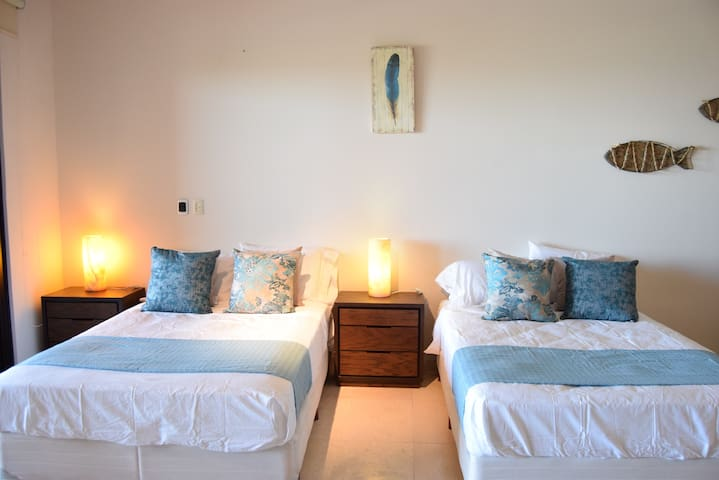 Double size beds to accommodate maximum 4 guests.