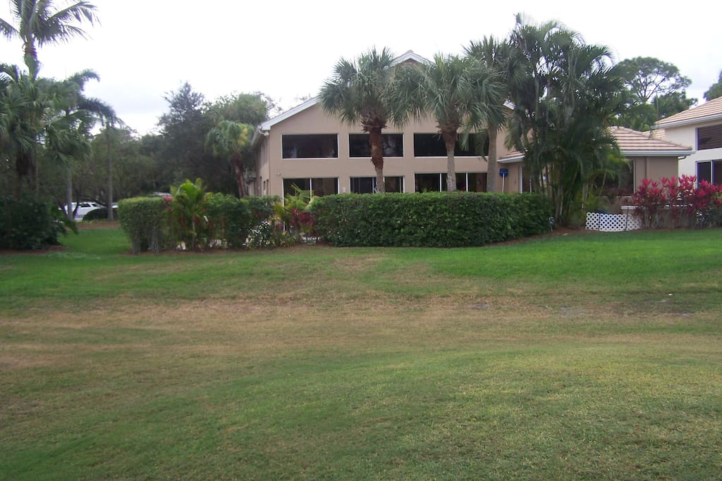 Back of hse on golf course