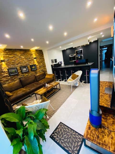 Tres belle appartement chic et chaleureux